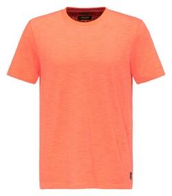 Pierre Cardin Denim Academy Fine Striped T-Shirt Oranje
