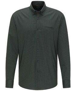 Pierre Cardin Denim Academy Minimal Fantasy Dot Overhemd Donker Groen