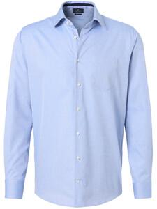 Pierre Cardin Fantasy Fine Contrast Overhemd Blauw-Wit