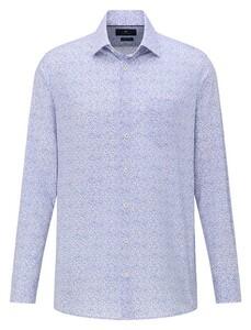 Pierre Cardin Fantasy Mini Floral Overhemd Blauw