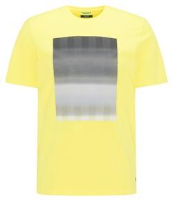 Pierre Cardin Fantasy Stripe Print Round Neck T-Shirt Prisma Yellow