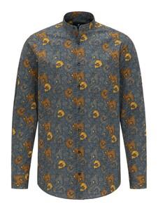 Pierre Cardin Floral Fantasy Shirt Grey-Yellow