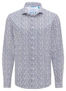 Pierre Cardin Futureflex Climacontrol Travel Floral Fantasy Shirt White-Navy