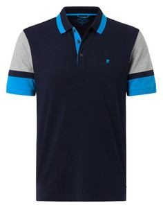 Pierre Cardin Futureflex Contrast Color Block Polo Navy Blue Melange