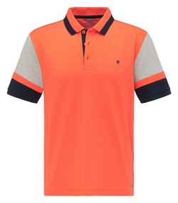 Pierre Cardin Futureflex Contrast Color Block Polo Oranje