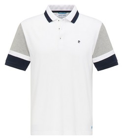 Pierre Cardin Futureflex Contrast Color Block Polo Wit