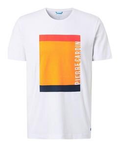 Pierre Cardin Futureflex Fantasy Logo Pattern T-Shirt Wit