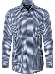 Pierre Cardin Futureflex Fantasy Overhemd Blauw-Wit