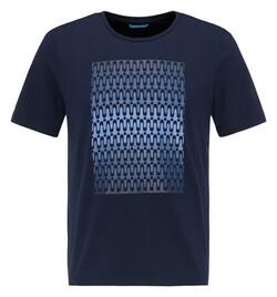 Pierre Cardin Futureflex Fantasy Pattern T-Shirt Navy Blue Melange
