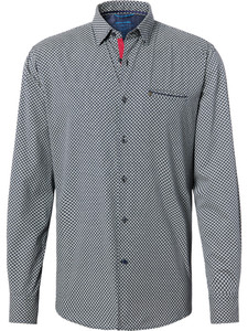 Pierre Cardin Futureflex Fantasy Shirt Blue-Grey