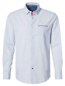 Pierre Cardin Futureflex Fantasy Shirt White-Blue