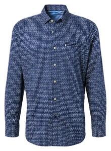 Pierre Cardin Futureflex Modern Contrast Overhemd Navy-Wit