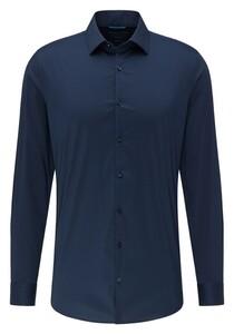 Pierre Cardin Futureflex Uni Kent Overhemd Navy