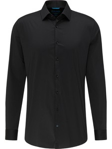 Pierre Cardin Futureflex Uni Kent Overhemd Zwart