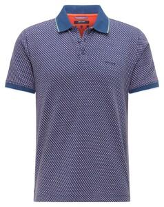Pierre Cardin Jersey Polo Fantasy Fine Pattern Comfort Stretch Polo Blue Vinta