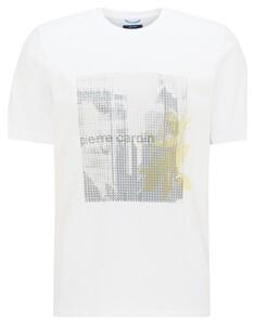 Pierre Cardin Jersey Round Neck Fantasy Print T-Shirt Wit