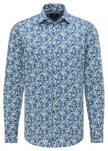 Pierre Cardin Kent Fine Floral Fantasy Shirt Blue