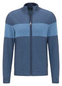 Pierre Cardin Knit Denim Academy Stripe Vest Blauw