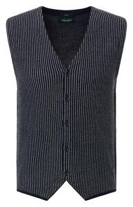 Pierre Cardin Knit Gilet Denim Academy Gilet Navy Blue Melange