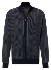 Pierre Cardin Knit Zip Denim Academy Vest Navy Blue Melange