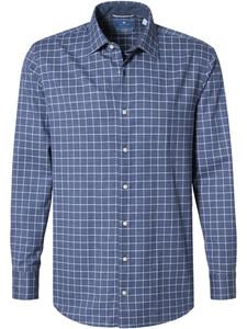 Pierre Cardin Le Bleu Check Overhemd Blauw-Wit