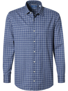 Pierre Cardin Le Bleu Check Shirt Blue-White