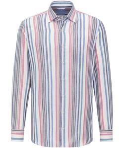 Pierre Cardin Le Bleu Striped Kent Overhemd Multicolor