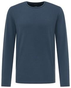 Pierre Cardin Long Sleeve Round Neck T-Shirt Donker Blauw