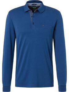 Pierre Cardin Longsleeve Polo Polo Donker Blauw
