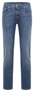 Pierre Cardin Lyon Kooltex Premium Jeans Vintage Used Blauw