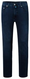 Pierre Cardin Lyon Solid Jeans Clima Control Jeans Donker Blauw