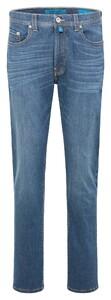 Pierre Cardin Lyon Tapered Futureflex Light Denim Jeans Blue