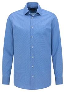 Pierre Cardin Mini Circle Dot Pattern Shirt Blue