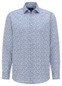 Pierre Cardin Mini Floral Fantasy Shirt Blue