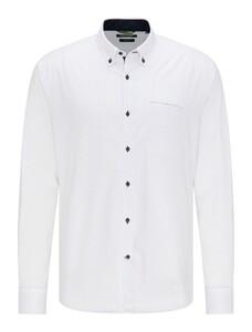 Pierre Cardin Minimal Dot Denim Academy Shirt White
