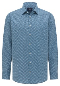 Pierre Cardin Multicircle Geometric Fantasy Overhemd Blauw