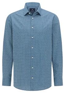 Pierre Cardin Multicircle Geometric Fantasy Shirt Blue