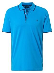 Pierre Cardin Piqué Airtouch Uni Fine Contrast Polo Blauw