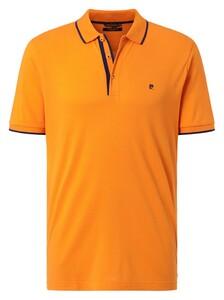 Pierre Cardin Piqué Airtouch Uni Fine Contrast Polo Oranje