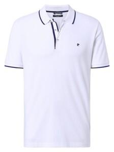 Pierre Cardin Piqué Airtouch Uni Fine Contrast Polo Wit