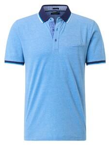 Pierre Cardin Piqué Airtouch Uni Multicolor Polo Blauw