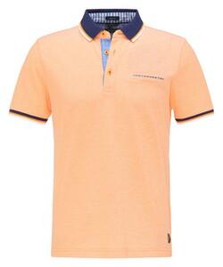 Pierre Cardin Piqué Airtouch Uni Multicolor Polo Oranje