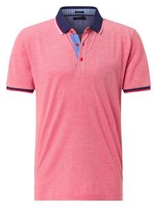 Pierre Cardin Piqué Airtouch Uni Multicolor Polo Rood