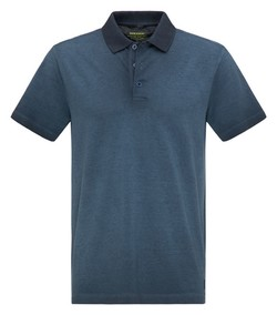 Pierre Cardin Piqué Cold Dye Denim Academy Polo Navy Blue Melange