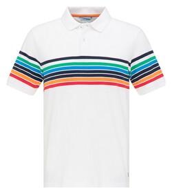 Pierre Cardin Piqué Futureflex Multi Stripe Polo Wit