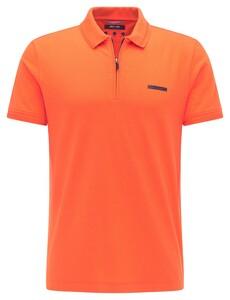 Pierre Cardin Piqué Futureflex Zip Comfort Stretch Polo Bittersweet Orange