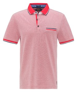 Pierre Cardin Piqué Tricolor Airtouch Polo Rood