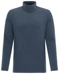 Pierre Cardin Rollneck Jersey Shirt T-Shirt Donker Blauw