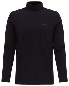 Pierre Cardin Rollneck Jersey Shirt T-Shirt Zwart
