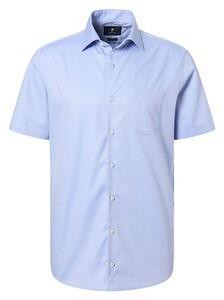Pierre Cardin Short Sleeve Easy Care Overhemd Blauw